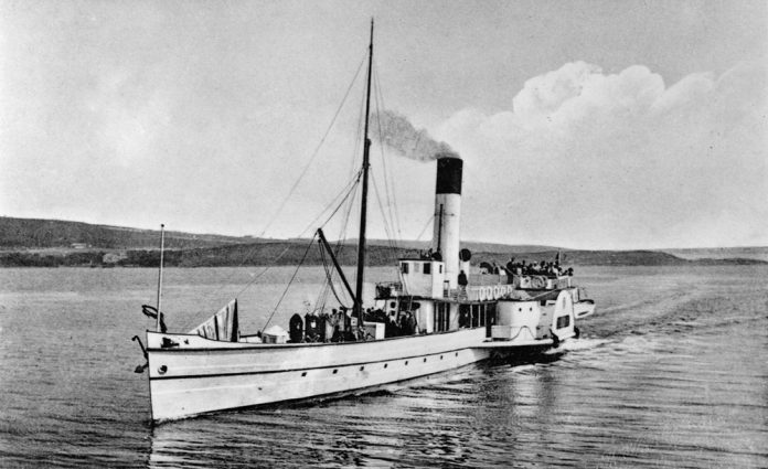 This beautiful vessel - the PS Skibladner - is the oldest and only remaining Norwegian paddle steamer still in operation. The Norwegians know her as